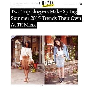 Grazia Magazine X TKMaxx Advertorial SS15 Trends